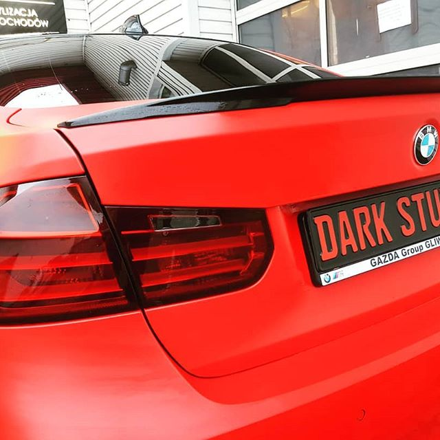 #bmw #f30 #mperformance #bmwpolska #bmw3 #3M #redcar #satin #darklight #carwrapping #oklejaniesamochodow #przyciemnianielamp #przyciemnianieszyb #Gliwice #katowice #zabrze #polska