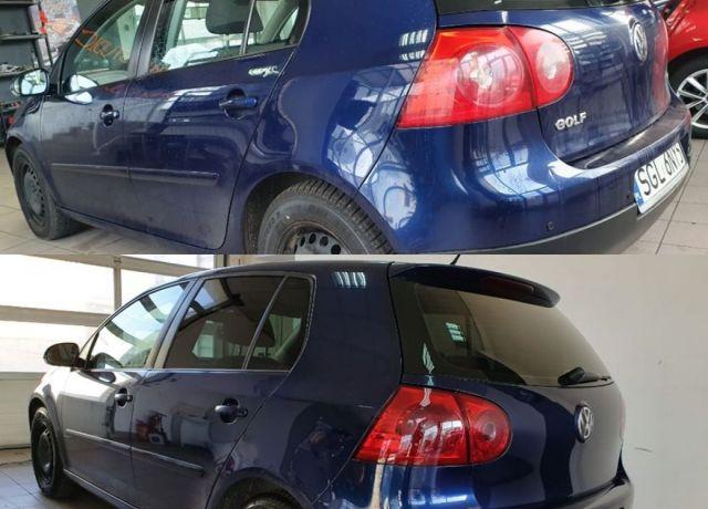 Bezinwazyjne przyciemnianie szyb VW Golf V Lampy